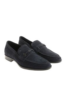 Tod's - Blue suede loafers