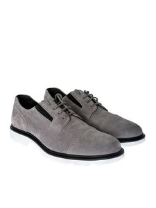 Hogan - Grey Route H304 suede derby
