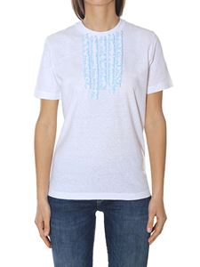 Dsquared2 - White cotton t-shirt with ruffles