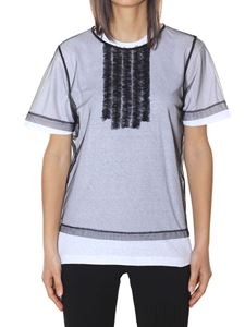 Dsquared2 - Black cotton and organza t-shirt