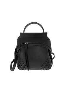 Tod's - Black backpack with rubber pebbles