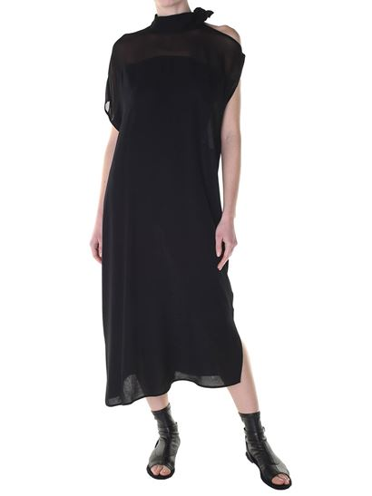 Viscose dress Colour: black Neck with ribbon Unlined - MM6 by Maison Martin  Margiela -