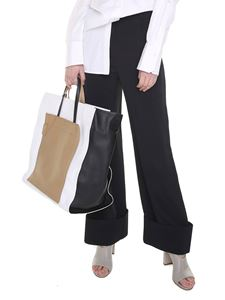 MM6 by Maison Martin Margiela - Black crepe wide trousers