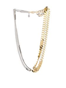 MM6 by Maison Martin Margiela - Golden and silver mix-chain necklace
