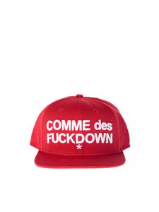 Comme des Fuckdown - Red logo embroidery hat