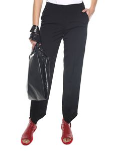 MM6 by Maison Martin Margiela - Black straight-leg trousers