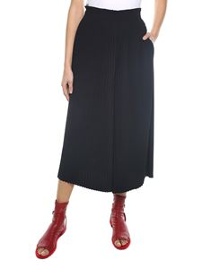 MM6 by Maison Martin Margiela - Black pleated culotte