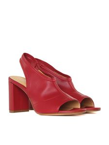 MM6 by Maison Martin Margiela - Red stretch leather sandals