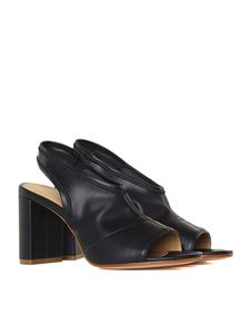 MM6 by Maison Martin Margiela - Black stretch leather sandals