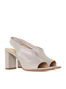MM6 by Maison Martin Margiela - Grey stretch leather sandals