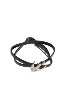 McQ Alexander Mcqueen - Black Swallow leather bracelet
