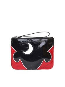 McQ Alexander Mcqueen - Solestice patent and leather clutch