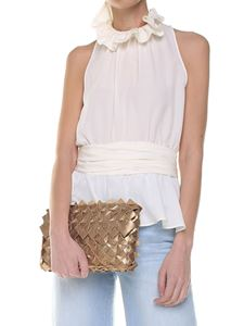 Moschino - Ivory-colored silk crepe top