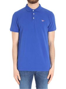 MAISON KITSUNÉ - Blue tricolor patch polo