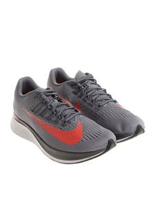 Nike - Grey Zoom Fly technical fabric sneakers