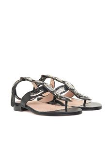 Red Valentino - Leather Sin sandals with snake
