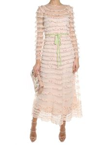 Red Valentino - Ivory tulle dress with ruffles