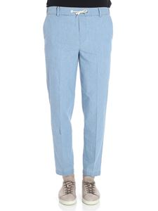 MAISON KITSUNÉ - Light blue Chambray City jeans