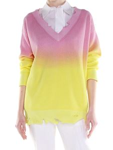 MSGM - Pink and yellow tie-dye pullover