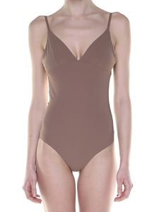Tory Burch - Marina swimsuit with V-neck