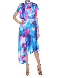 MSGM - Tie-dye silk twill dress