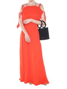 Tory Burch - Long red Evalene dress with laces