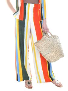 Tory Burch - Fiona trousers with multicolor stripes