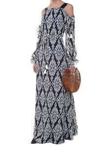 Tory Burch - Blue and white Katherine printed long dress