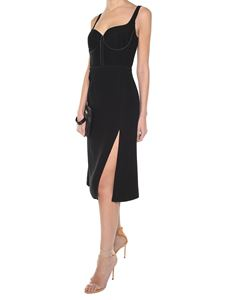 Versace - Black sweetheart neckline dress