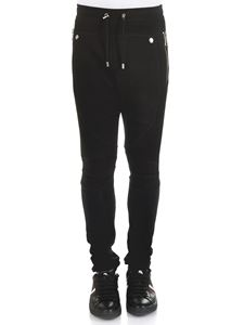 Balmain - Black Calecon Mix Resille leggings