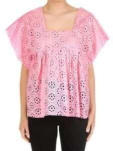 MSGM - Pink perforated top