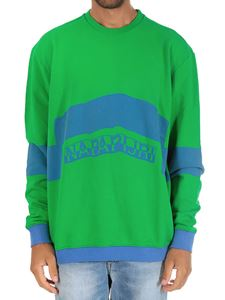 Napapijri - Green and blue Bacchus sweatshirt