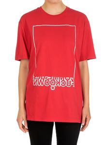 Comme des Fuckdown - Red logo printed t-shirt