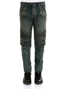 Balmain - 5-pocket blue cotton jeans