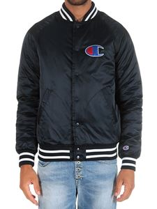 Champion - Blue jacket with striped edges and logo