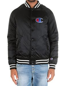 Champion - Black jacket with striped edges and logo