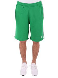 Adidas - Green 3 stripes shorts