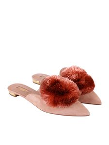 Aquazzura - Pink Powder Puff flats