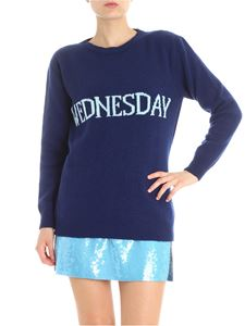 Alberta Ferretti - Blue wool and cashmere Wednesday pullover