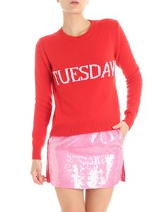 Alberta Ferretti - Red Tuesday wool and cashmere pullover