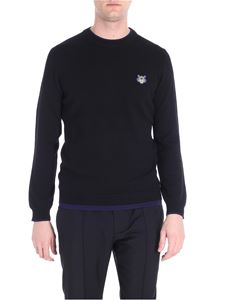 Kenzo - Black pullover with Tiger embroidery