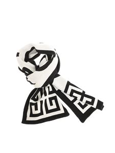 Givenchy - Black and white logo scarf