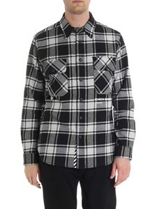 Off-White - Black and white flannel check shirt