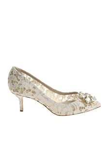 Dolce & Gabbana - Ice-colored lace pumps