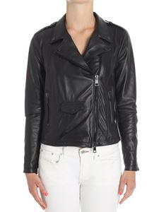 Meatpacking D. - Black leather biker jacket