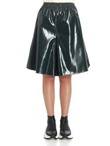 MM6 by Maison Martin Margiela - Dark green vinyl skirt-pants