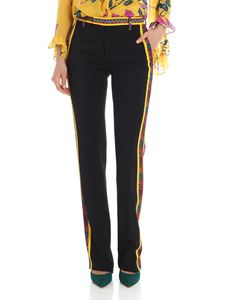 Etro - Black trousers with multicolor inserts