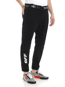 Off-White - Black low-crotch jeans