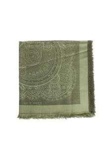 Etro - Green embroidered shawl