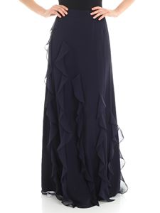 Max Mara - Blue Serafin long skirt